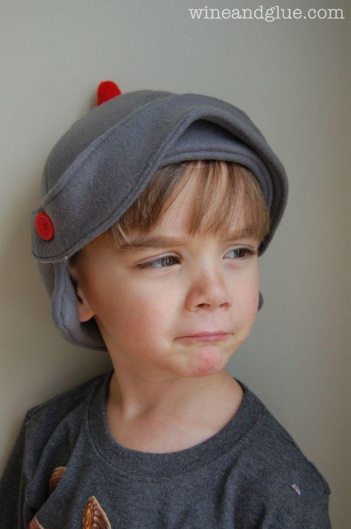 Fleece Knight Helmet Hat with tutorial and free pattern! via www ...