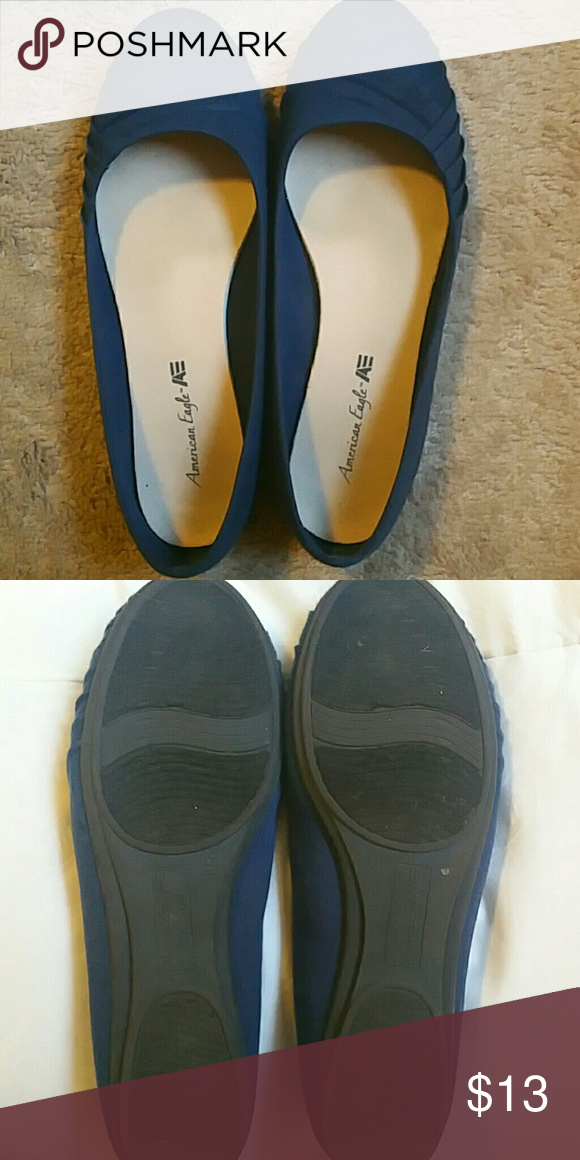 672654ffde7 Navy Blue ballet flats Size 9. Comfy. Very little wear. Great condition. American  Eagle By Payless Shoes Flats   Loafers