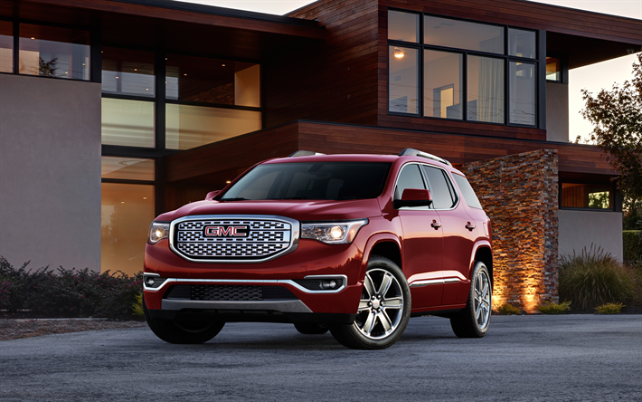 Download Wallpapers Gmc Acadia Denali 2018 Suv 4k New Cars