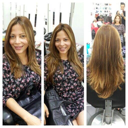 #hair #cabello #extension #extensiones #hairdresser #color #honey #miel