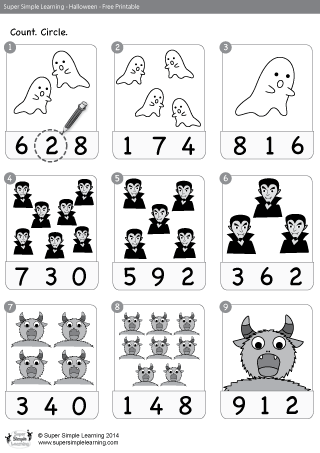 Free Halloween Related Resources From Super Simple Learning Halloween Worksheets Halloween Math Halloween Preschool