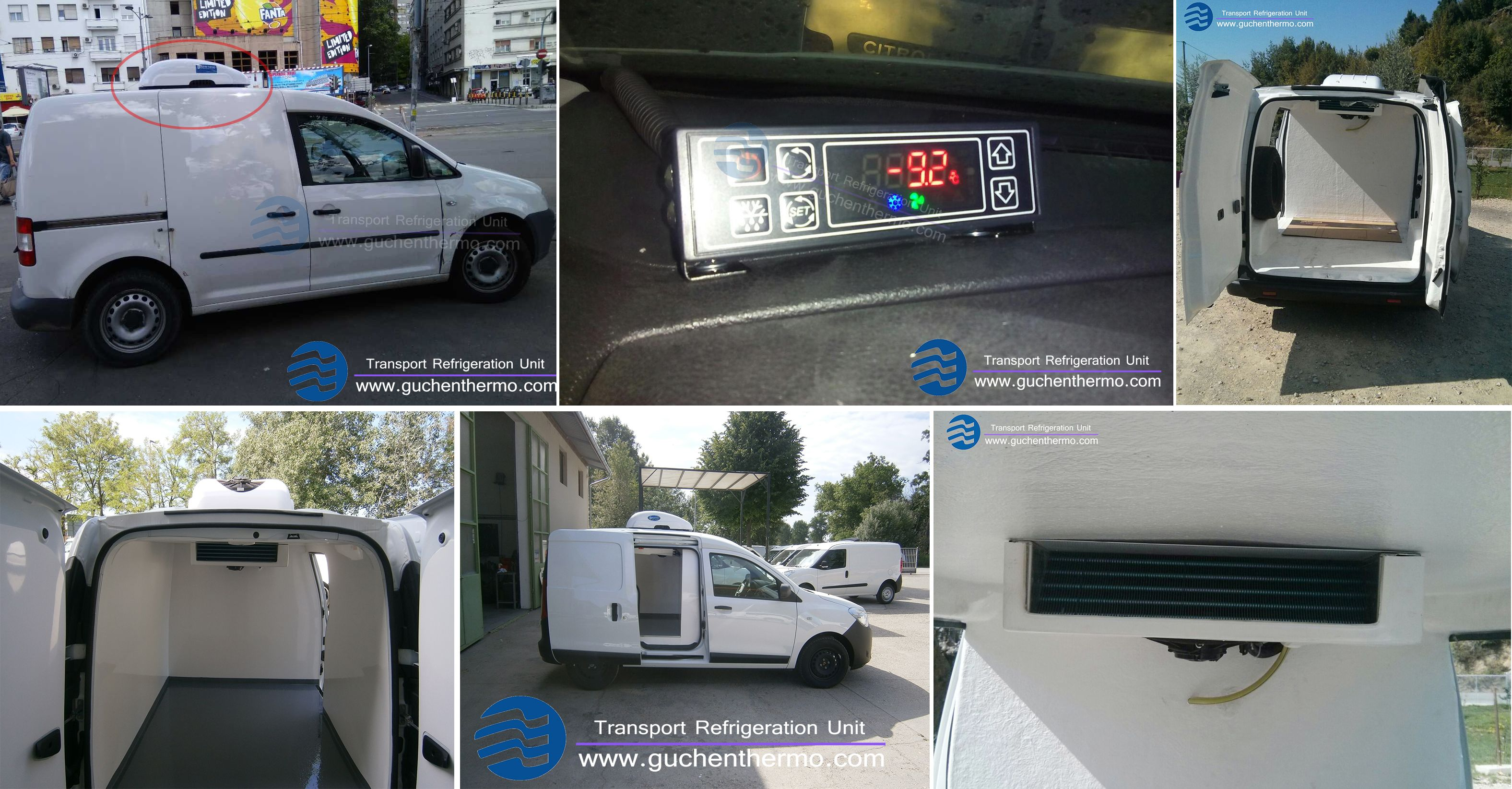 Tr 110d Is Condenser Roof Mounted Van Refrigeration Unit Battery Powered Driven For Fresh Foods Transport Easy To Install And Help You Save Fuel The Unit Van