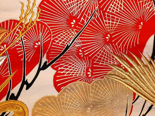 Japanese Fabric   japanese traditional kimono detail of