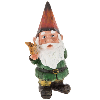 Carved Gnome With Squirrel In 2020 With Images Carving Gnomes