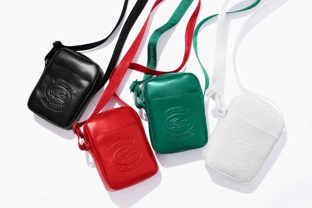 079926710d8 Supreme / LACOSTE Black Leather Shoulder Bag - Confirmed Order ...