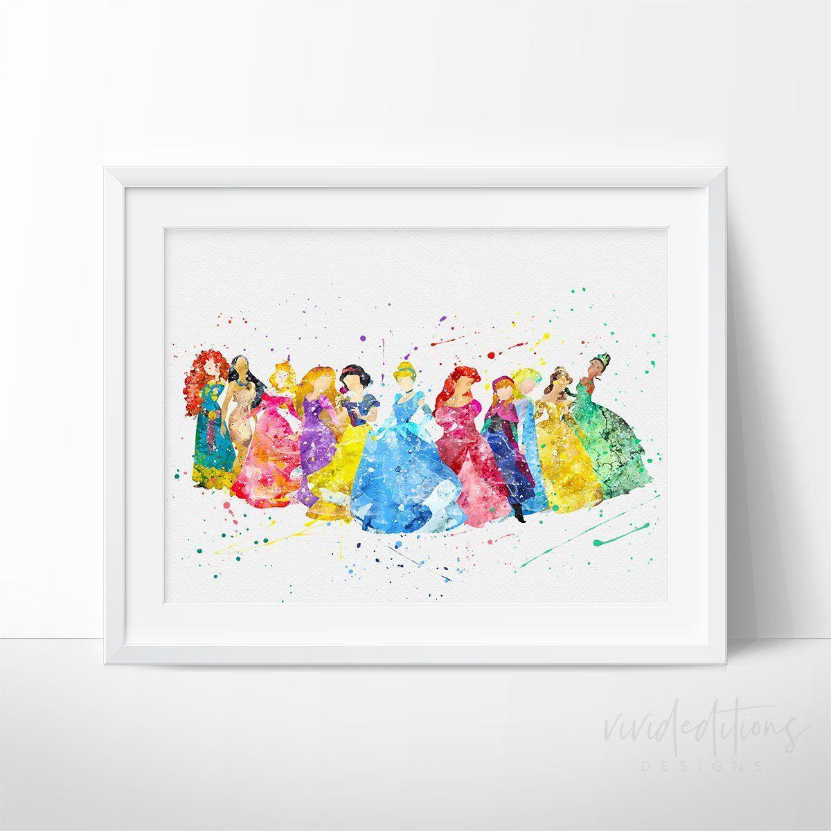 Moana and Maui Moana Watercolor Baby Poster Nursery Print Disney Art UNFRAMED