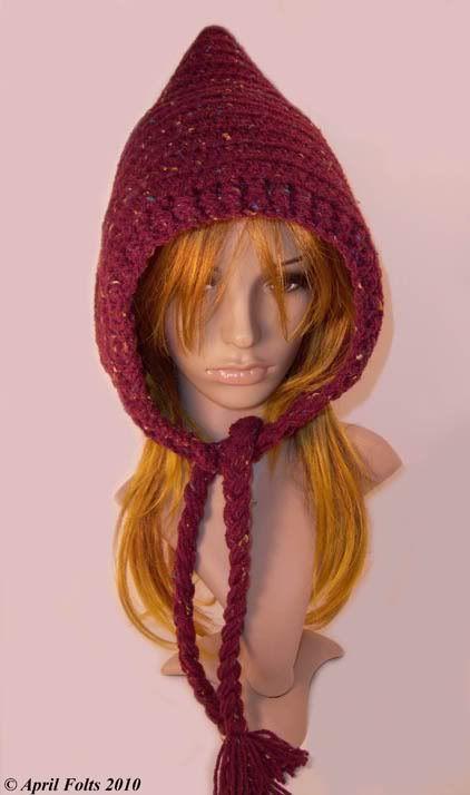 April Draven: Pretty Pixie Hat free | Crochet around the head ...