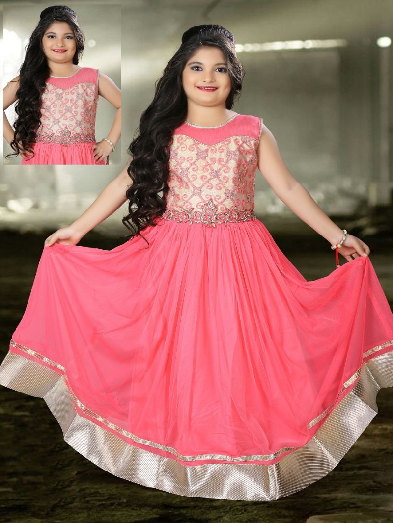 Impressive pink kids gown kids gown gowns for girls