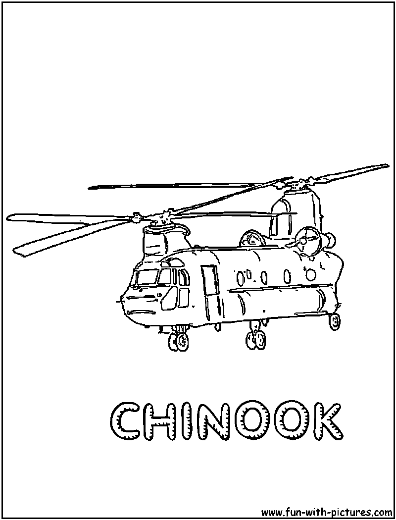 Printable coloring pages helicopter - Army Helicopter Coloring Pages Militaryhelicopter Coloring Page