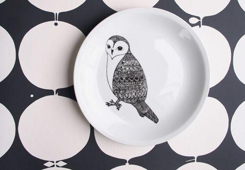 Aprill Aprill - Owl Plate
