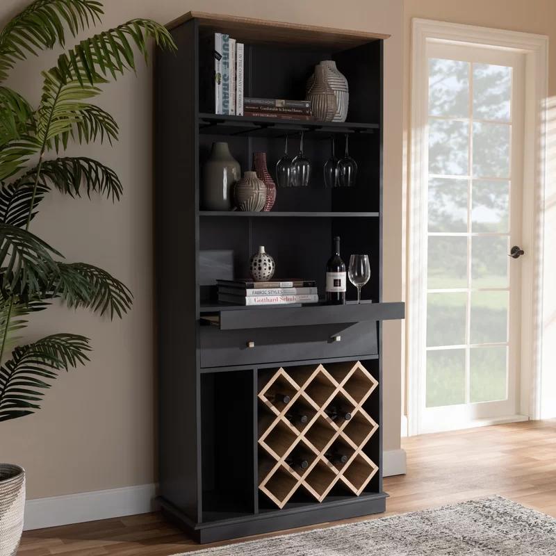 Baltasar Bar With Wine Storage In 2020 Wine Cabinets Wine Storage Wooden Wine Cabinet