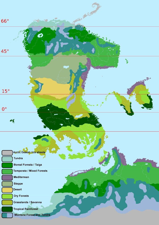 Pin By Ran Targas On Cosmopoiesi Worldbuilding Fantasy Map Biomes Map [ 1240 x 877 Pixel ]