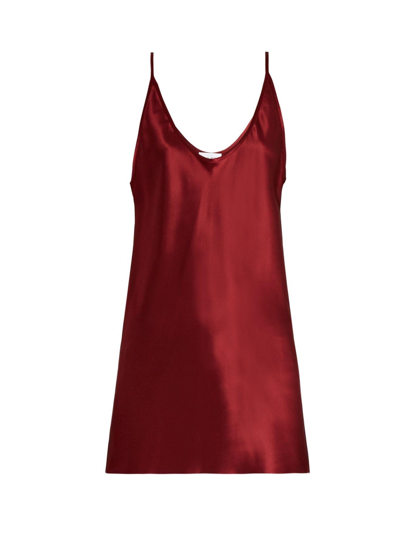 9c2a696752716 Deep scoop-neck silk-satin cami top