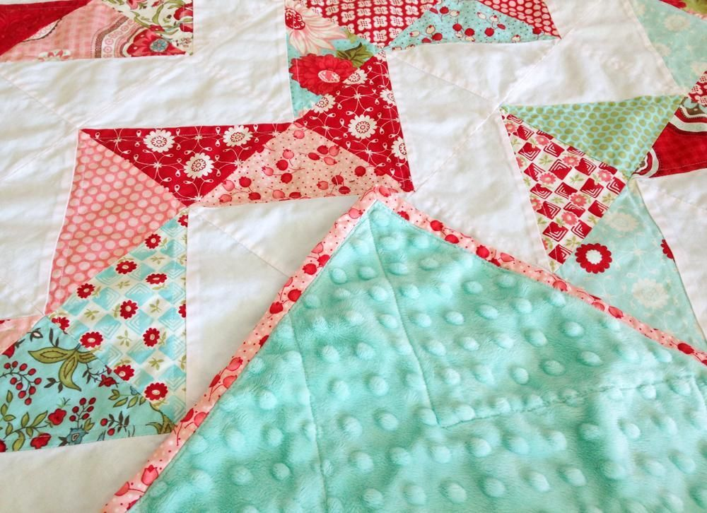 Looking for quilting project inspiration? Check out Minky Chevron Baby Quilt by member LeAnne Ballard.