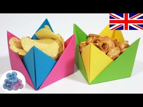 Easy Origami Container Paper Bowl Candy Dish Mathie