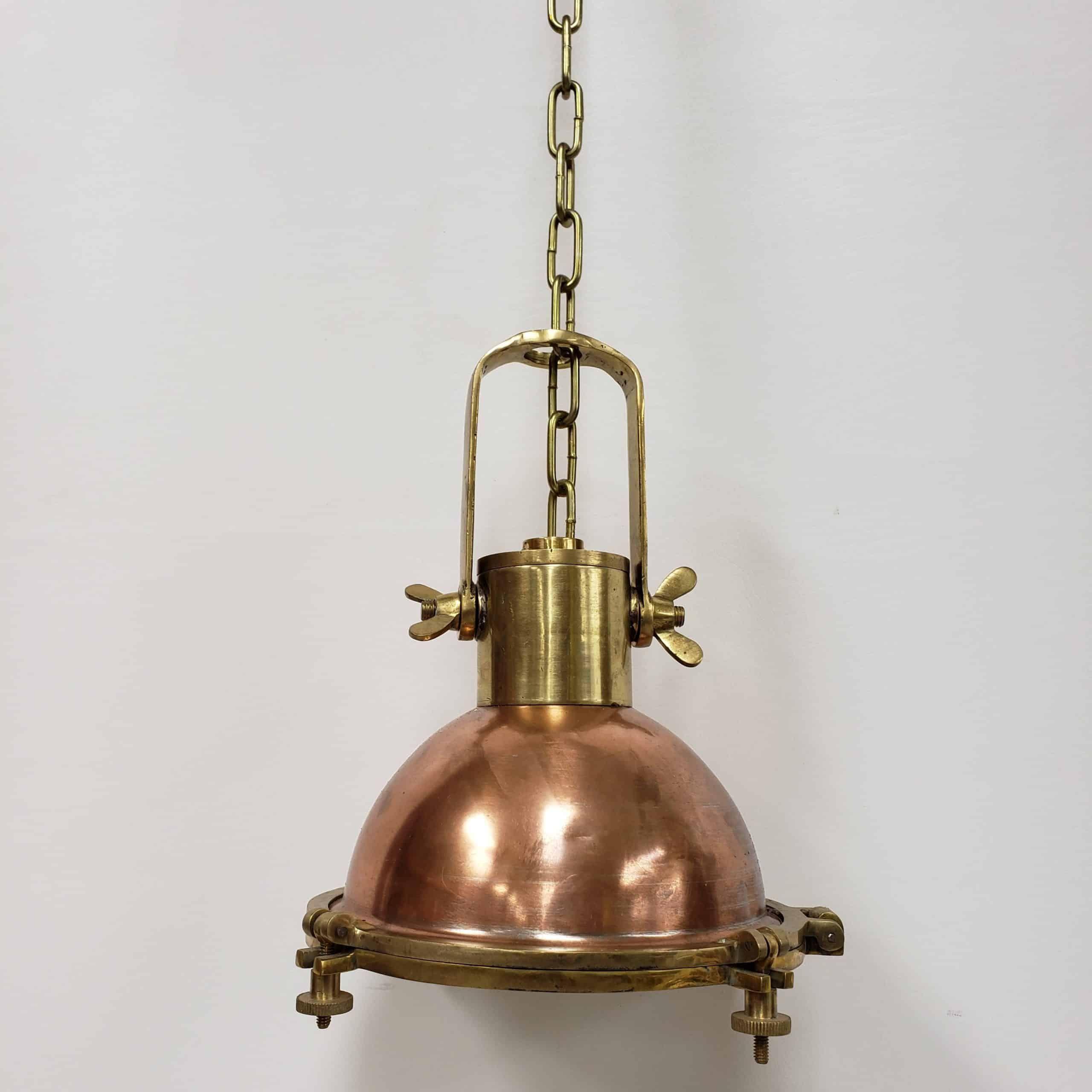 Vintage Nautical Cargo Copper Pendant Light With Chain In 2020 Copper Pendant Lights Nautical Pendant Lighting Pendant Light