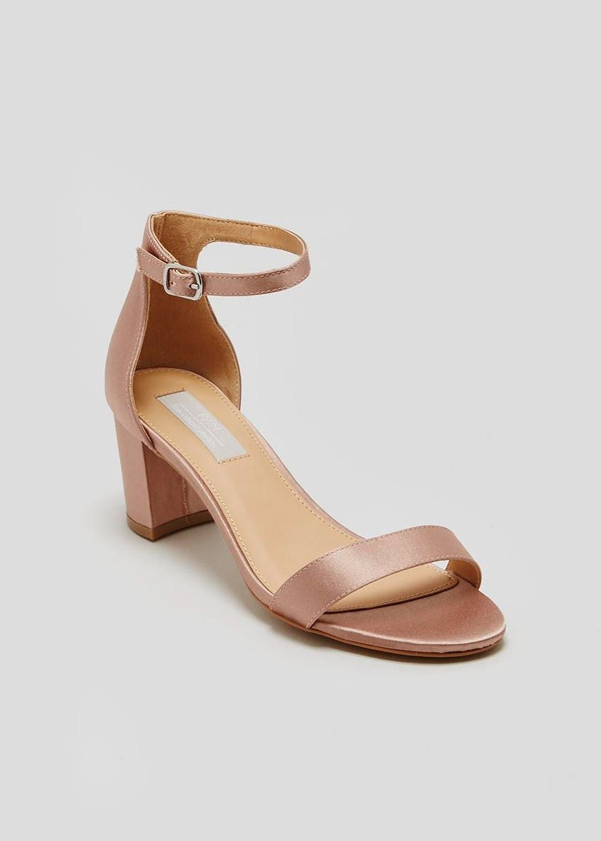 9497d84ae FWM Block Heel Strappy Sandals – Nude – Matalan