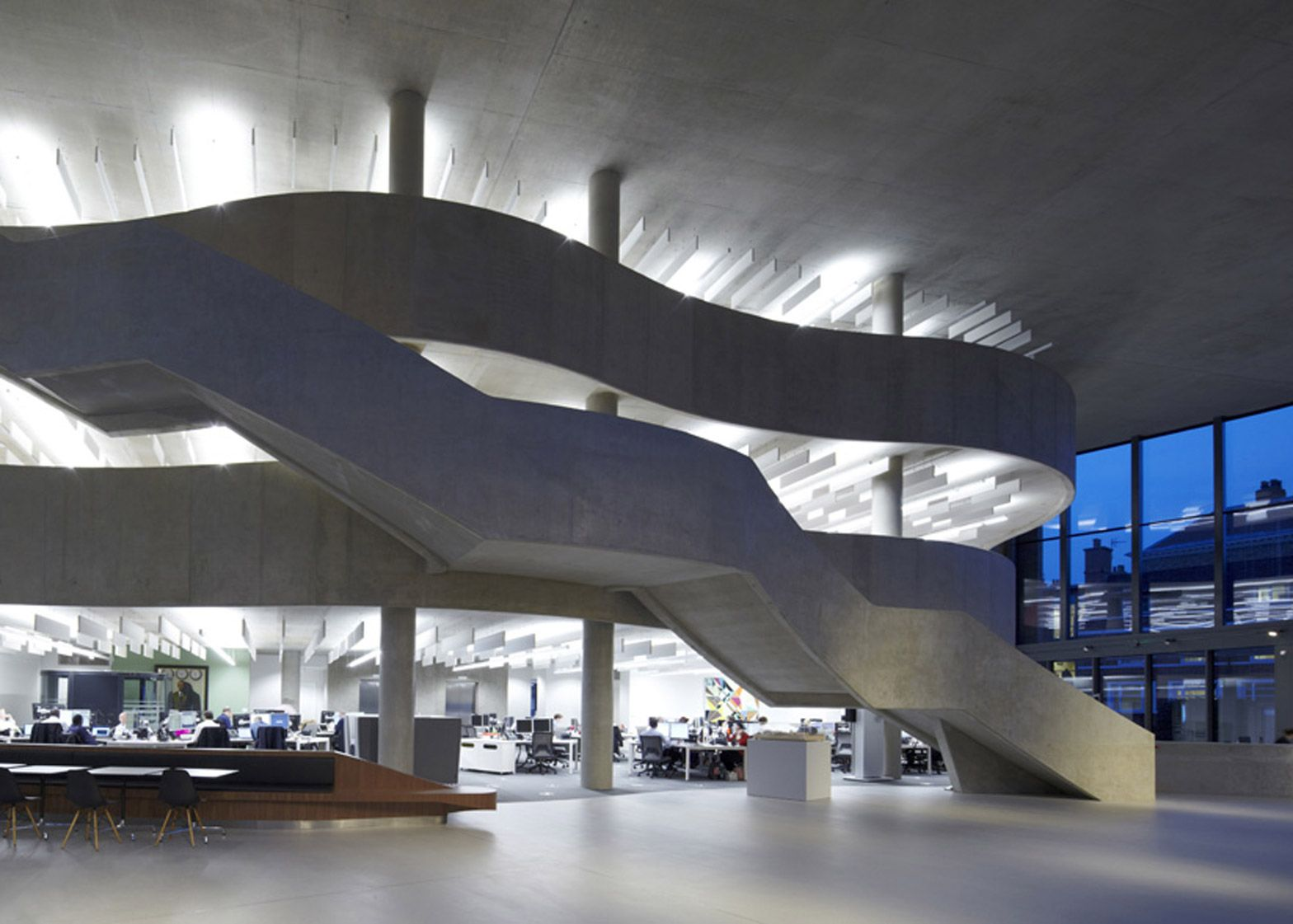 Hiscox office building by Make Architects features grand