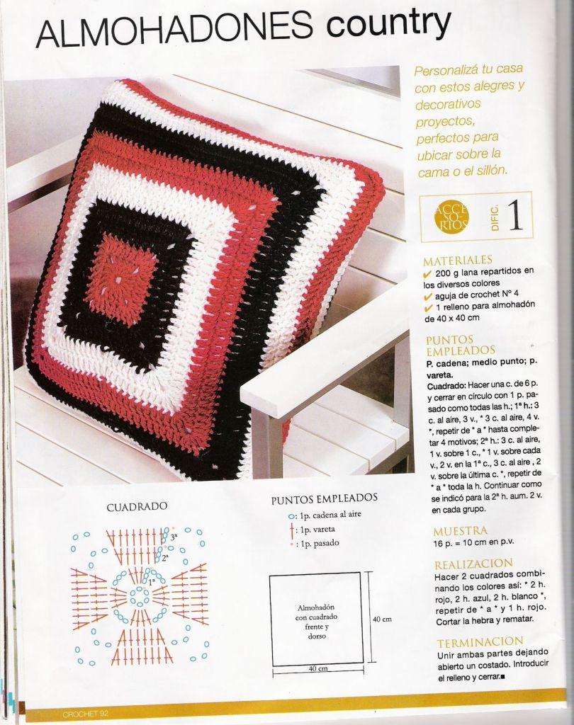 crochet 023 ~ Crochet Knit Free Charts Pattern Cushions Pillows ...