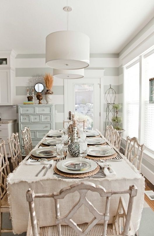Shabby chic linens for the dining room oh so s h a b b y - Oh cielos muebles ...