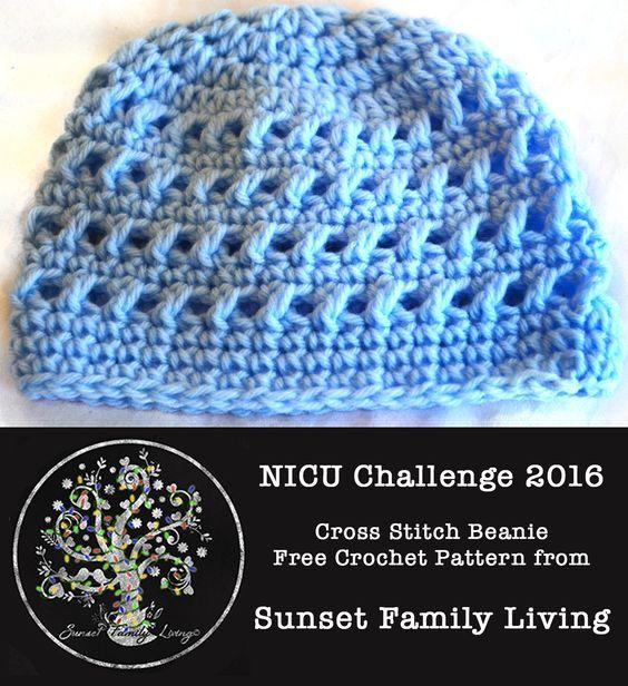 Basic Striped Beanie Newborn Hat Pattern | Spring 2015 NICU Challenge Pattern – Sunset Family Living