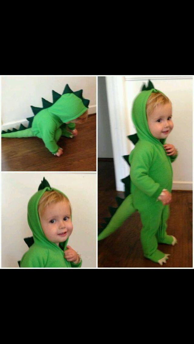 Dinosaur Semi-Homemade Halloween Costumes - DIY costumes made from hooded footie pajamas  sc 1 st  Pinterest & Dinosaur Costume   Baby   Pinterest   Costumes Halloween costumes ...