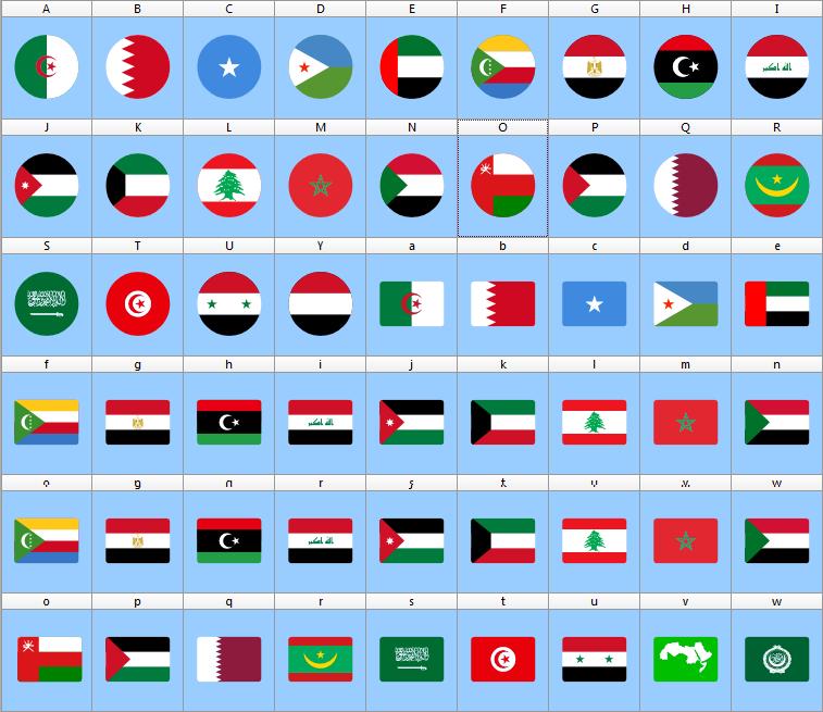 Download Font Arabic Flags Color Ttf Otf Http El Harrak Blogspot Com 2018 09 Font Arabic Flags Color Html Video Fonts Flag Colors Download Fonts Fonts