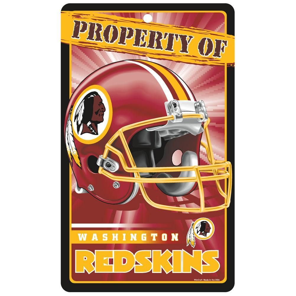 Washington Redskins NFL Property Of Plastic Sign (7.25in x 12in)