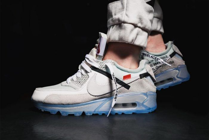 f6d421be59015f On-Foot Look  Off-White x Nike Air Max 90 – Sneaker Freaker