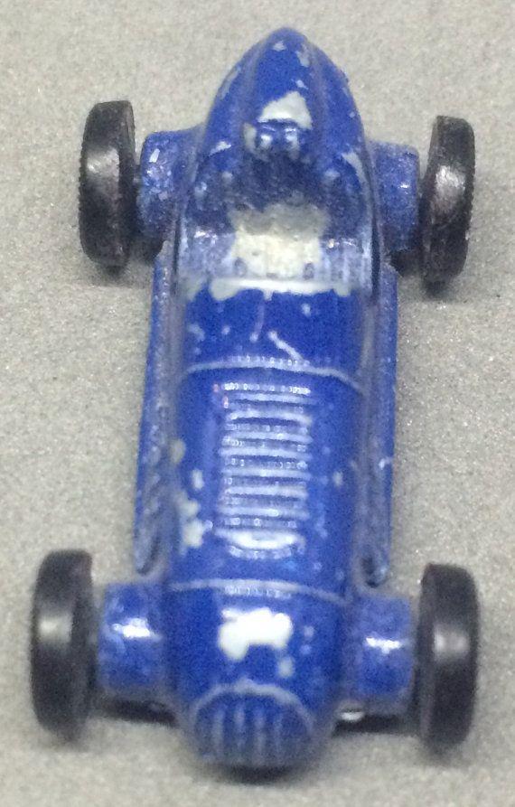 Vintage Tootsie Toy Blue Race Car Diecast Mini Micro Etsy Diecast Race Cars Vintage Race Car