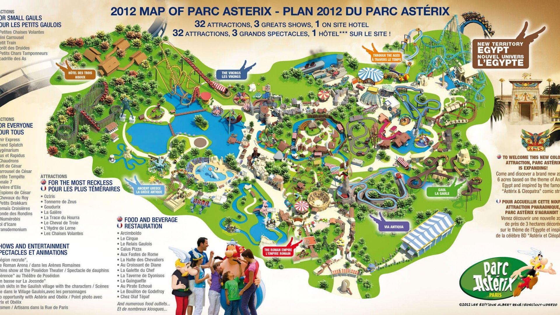 Parc ast rix is a theme amusement park in france based on for Amusement parks in paris