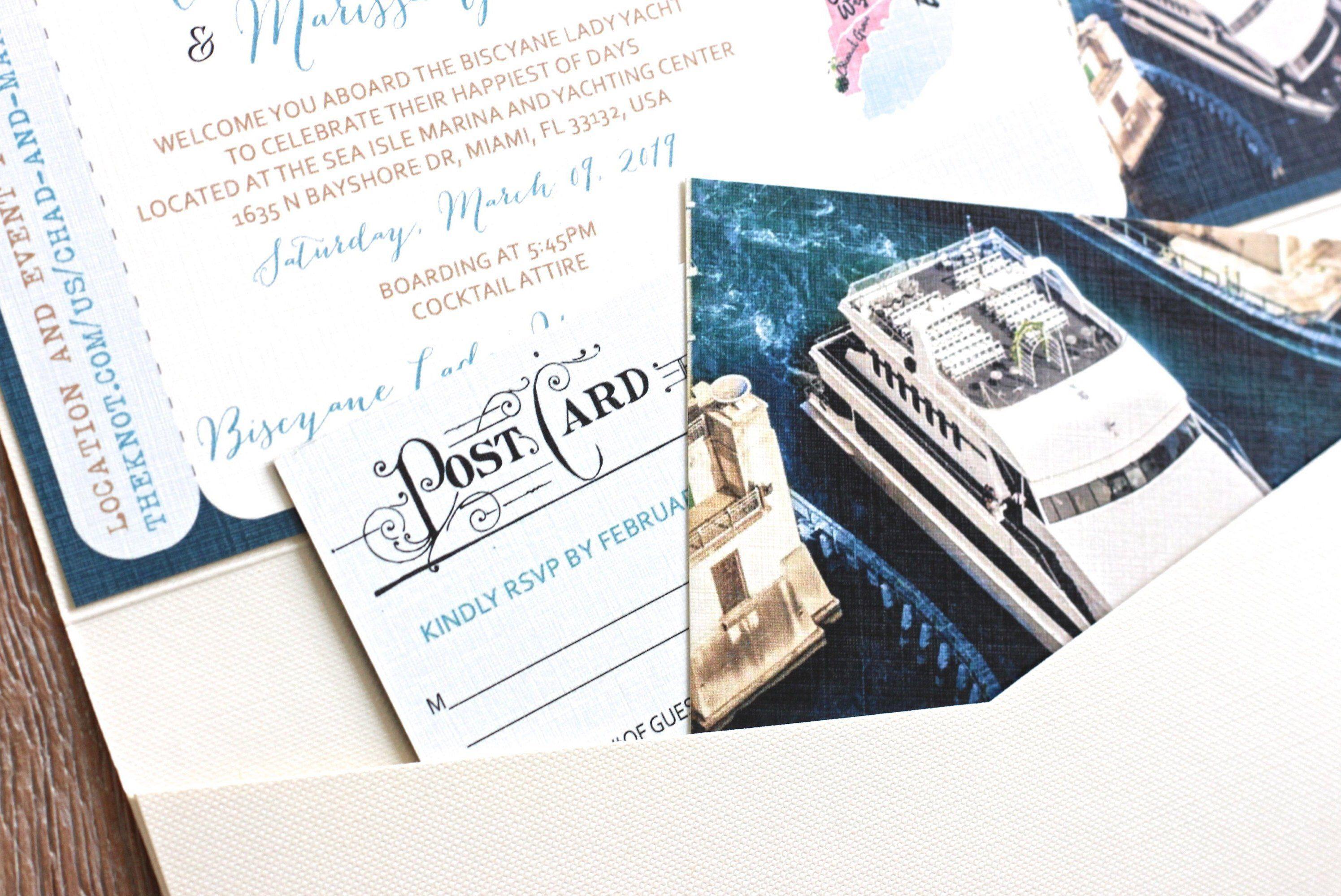 Cruise Wedding invitation Boarding Pass DESIGN FEE