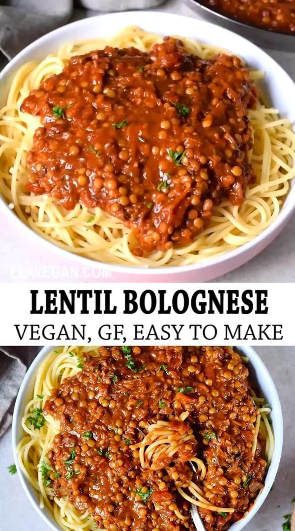 Vegan Bolognese Sauce Recipe (With Lentils) - Elav