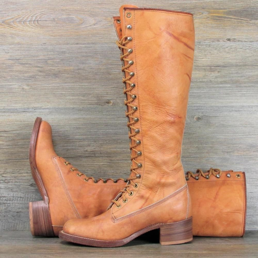FRYE Vintage Tall Lace up Campus Riding