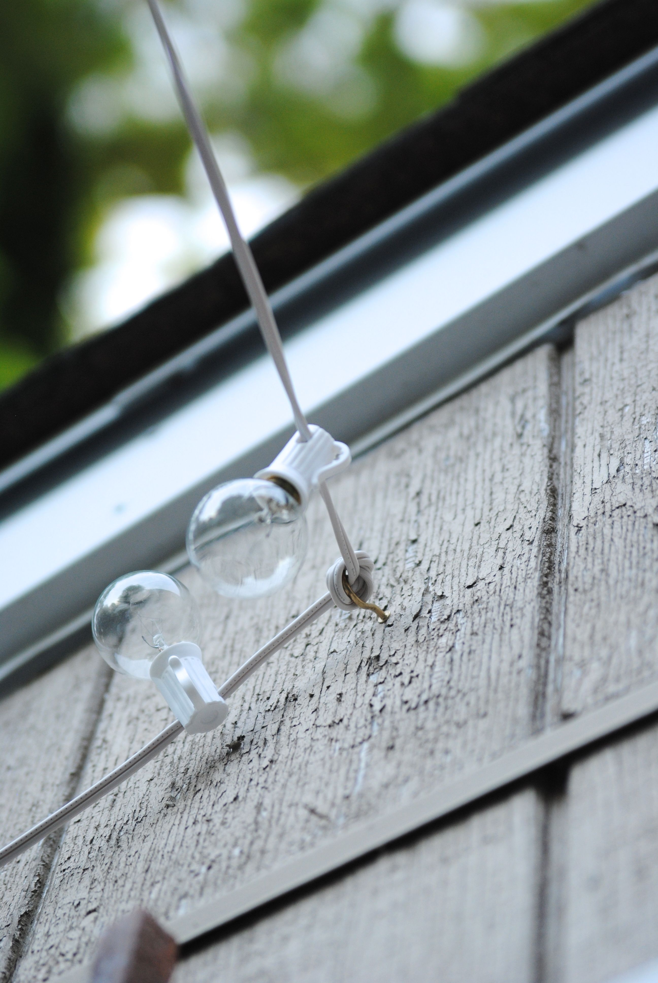 Love this how to hang outdoor lights what an easy and inexpensive love this how to hang outdoor lights what an easy and inexpensive way to aloadofball Choice Image