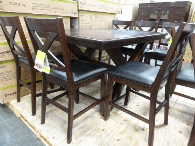 Bayside Furnishings Savonne Counter Height Dining Set Costco 2 ...