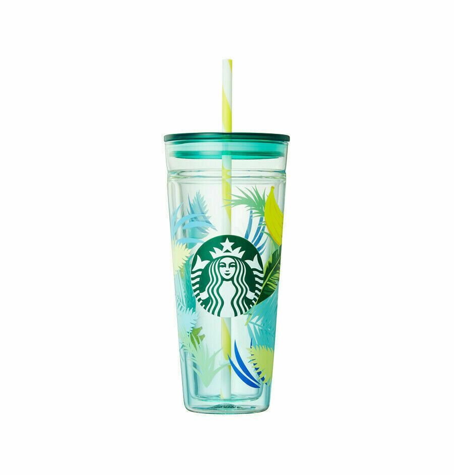 Starbucks Korea 2019 Summer Limited Banana Glass Coldcup Tumbler 591ml+Tracking