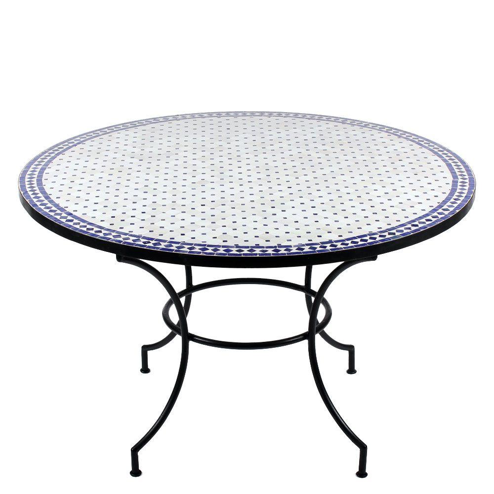 Issma Ist Der Gartentisch Mit Frischen Weissen Mosaikstein Www Albena Shop De