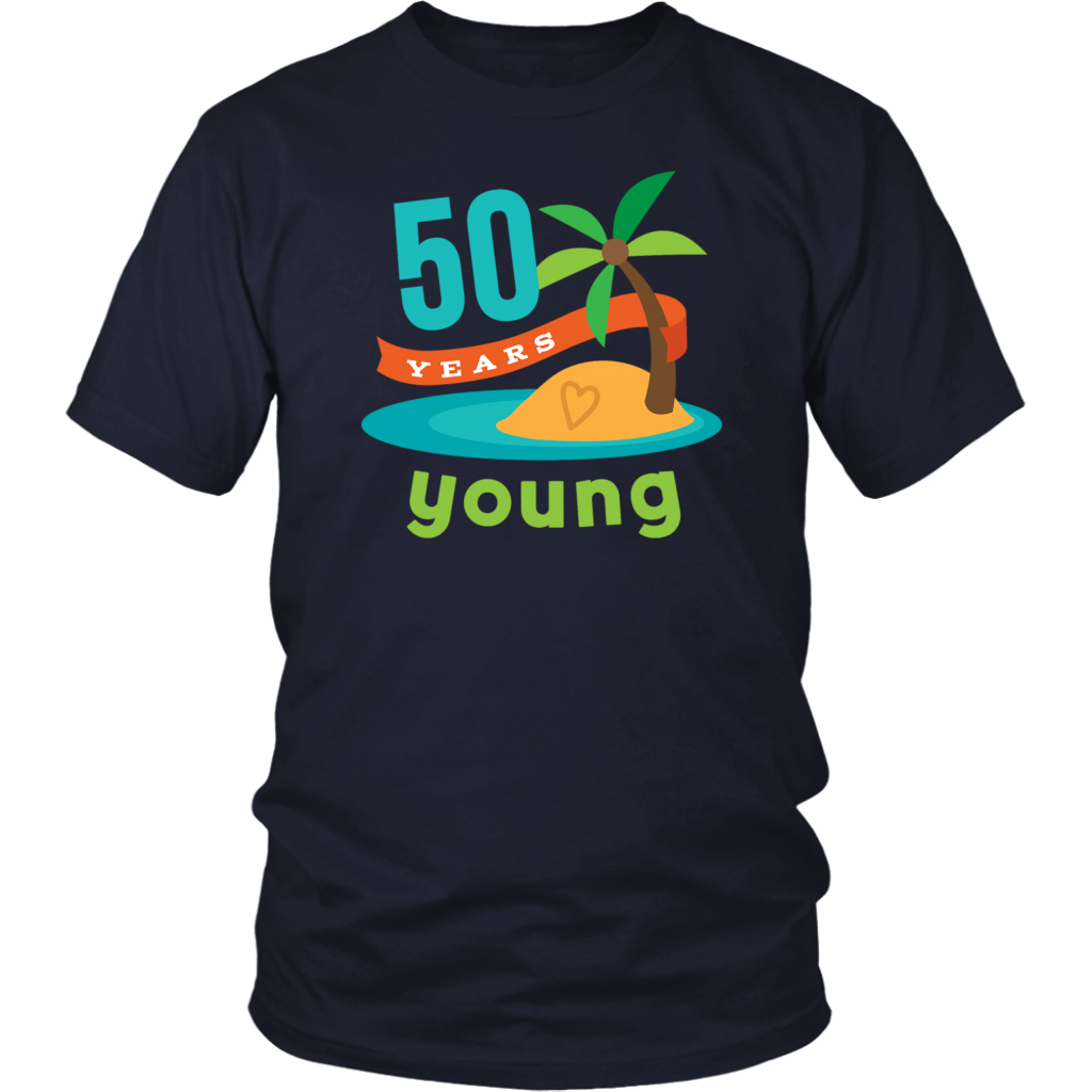 b9a1183a30d3 50th Birthday Tropical Island T-shirt