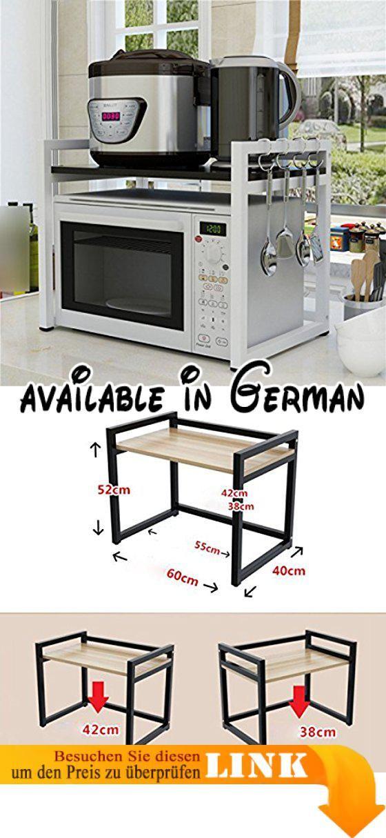 B078XDBRMC : Mikrowellen-Regale Von LDFN Holz-Küchenregale ...