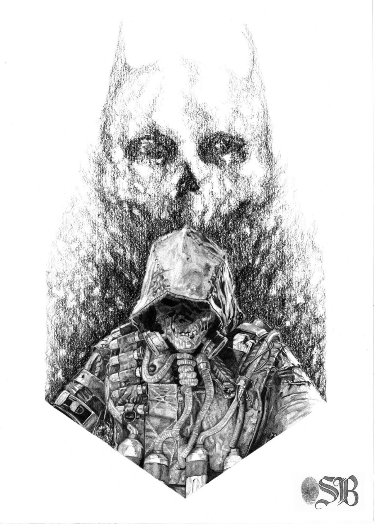 Pencil Drawing - Scarecrow from Batman Arkham Knight by Sam Brooks ...