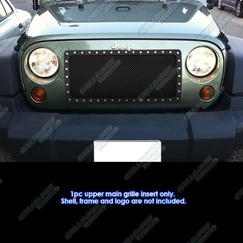 Aps Black Powder Coated Grille Bolt Over For Select Jeep Jks