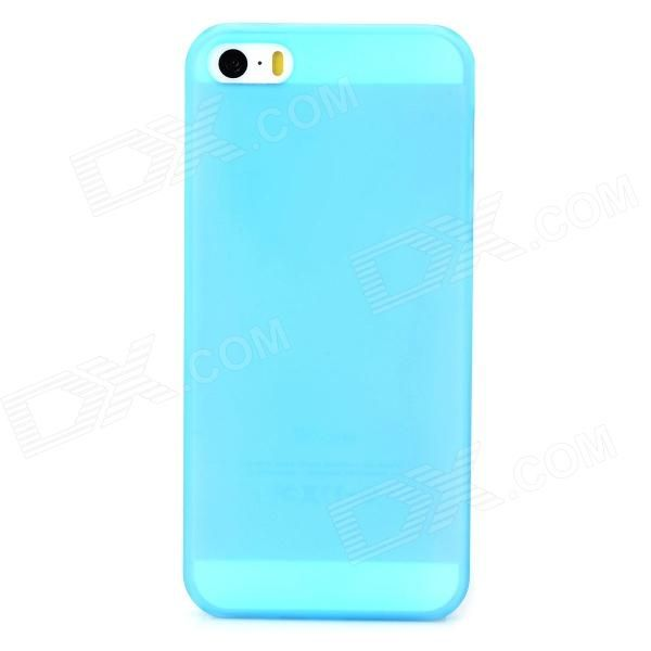 Protective Frosted PC Back Case for Iphone 5S - Light Blue