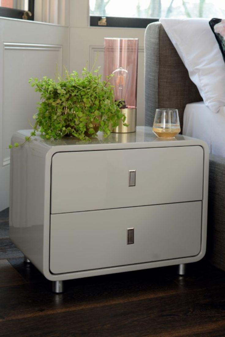Light Grey Bedside Table: Malone Bedside Table Light Grey