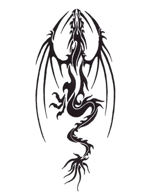 Dragon Side View : dragon, Chinese, Dragon, Template, Silhouette, Tattoo, Silhouette,, Designs,