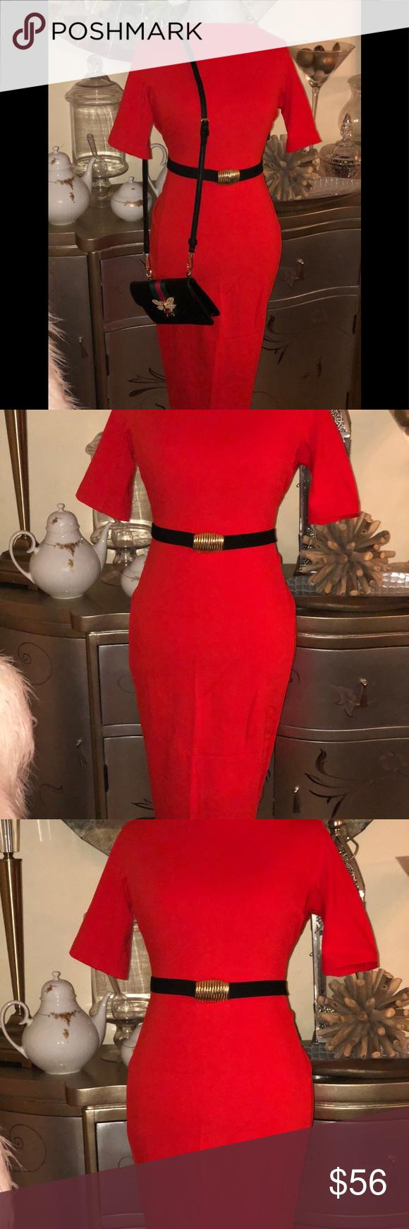 Red dress from zara body fit my posh picks pinterest dresses