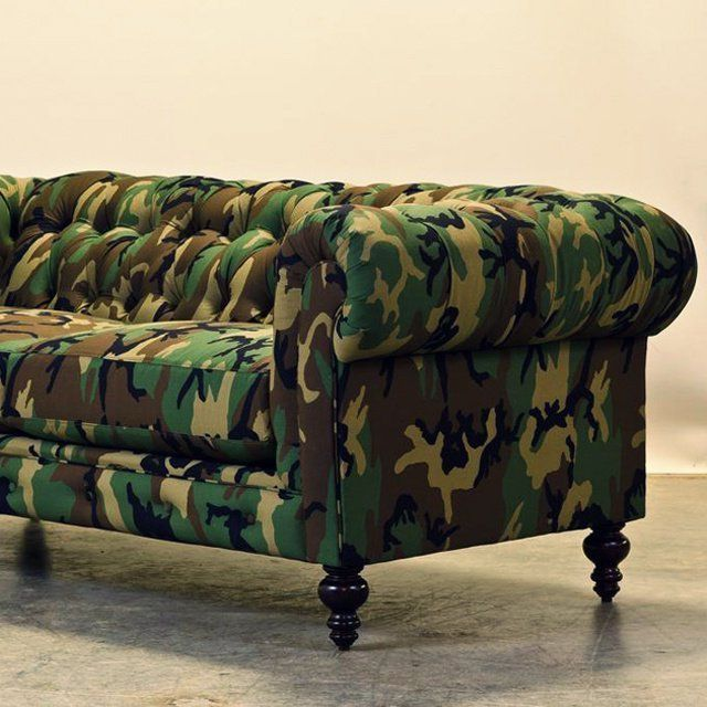 Camouflage Chesterfield Couch By Cococohome Comfortable Couch