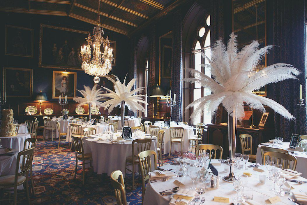 Elaborate 1940s Vintage Castle Wedding Christina Richard