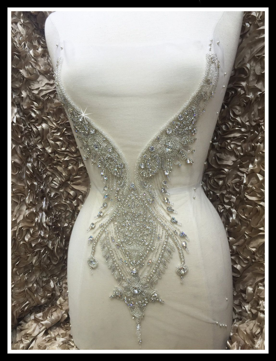 Rhinestone Appliques for Wedding Dresses - Best Dresses for Wedding Check more at http://svesty.com/rhinestone-appliques-for-wedding-dresses/