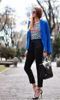 Look: Blue & Stripes